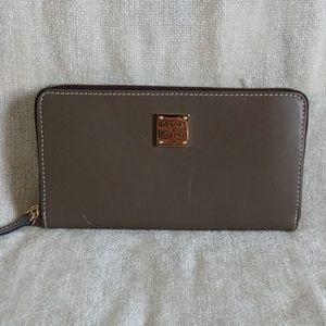 Authentic Dooney & Bourke large zip wallet